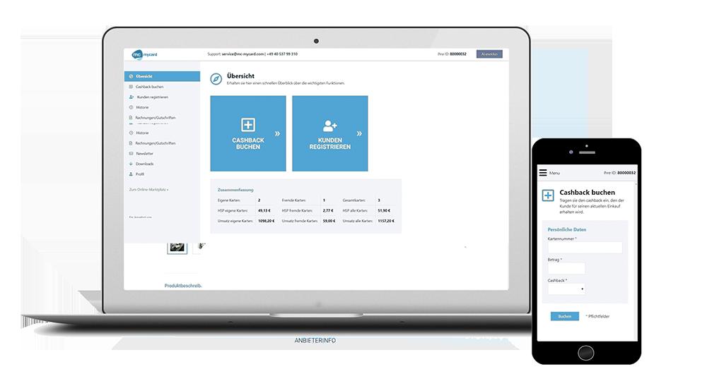 Partner-Dashboard für Kundenbindungsprogramm
