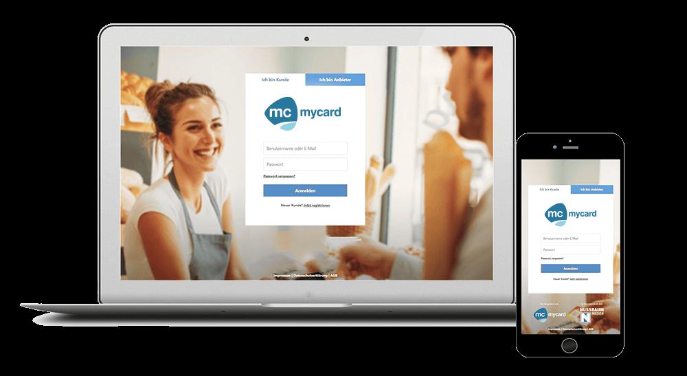 Kundenbindungsprogramm Login-Seite